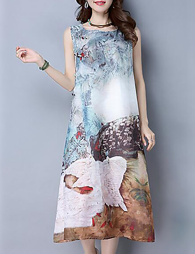 ddc8970d6321 Women s Going out Casual   Daily Simple Maxi Loose Dress - Floral Summer  Blue Purple  05747116