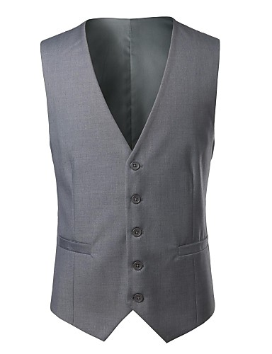 Men's Simple Plus Size Vest - Solid Colored