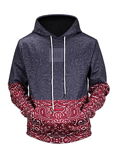 Men's Long Sleeves Hoodie - 3D Print Hooded