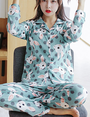 Women's Suits Pajamas - Print, Animal