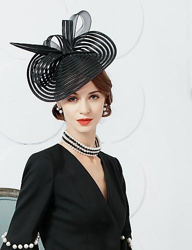 abordables Chapeau & coiffure-Tulle / Plume Kentucky Derby Hat / Fascinators / Chapeaux avec Fleur 1pc Occasion spéciale / Fête / Soirée Casque