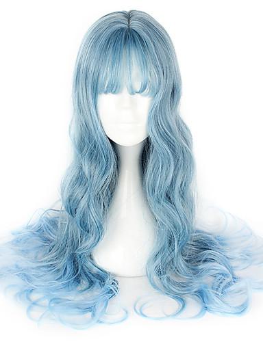 billige Cosplay Parykker-Cosplay Parykker Dame 26 inch Varmeresistent Fiber Blå Anime