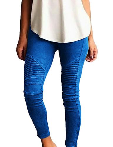 povoljno Tajice-Žene Vikend Osnovni Legging - Jednobojni Medium Waist Djetelina Crn Lila-roza XL XXL XXXL / Uske