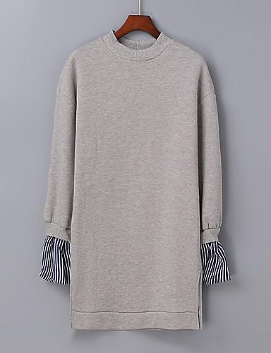 Damen Pullover Ausgehen Lässig/Alltäglich Niedlich Aktiv Einfarbig Mikro-elastisch Baumwolle Andere