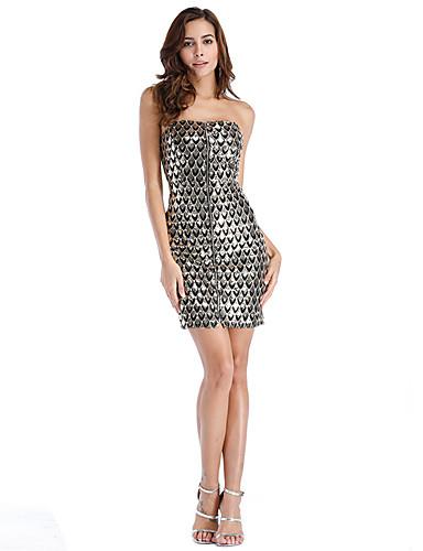Damskie Bodycon Sukienka - Solidne kolory Z odsłoniętymi ramionami Nad kolano