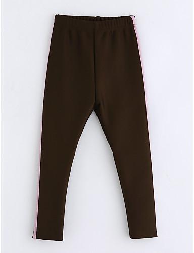 Spodnie Bawełna Dla dziewczynek Prążki Zima Brown