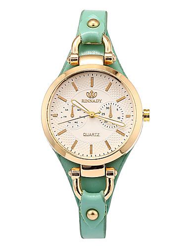 Damskie Kwarcowy Zegarek na nadgarstek Chiński Chronograf Skóra Pasmo Na co dzień Elegancki Modny Święta Bożego Narodzenia Czarny Biały