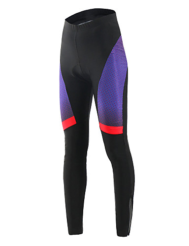 cheap Cycling Clothing-Arsuxeo Women's Cycling Tights Bike Pants Bottoms Quick Dry Sports Polyester Elastane Violet Clothing Apparel Bike Wear / High Elasticity