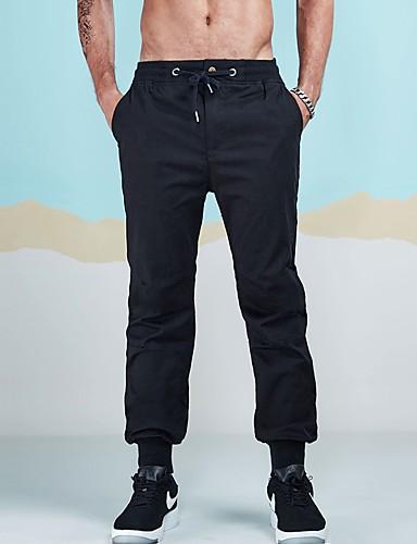 Męskie Spodnie dresowe Typu Chino Spodnie - Zebrany, Jendolity kolor