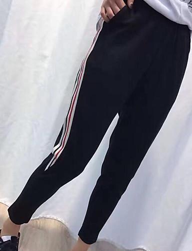 Damen Hose Mikro-elastisch Eng Hose Solide Gestreift