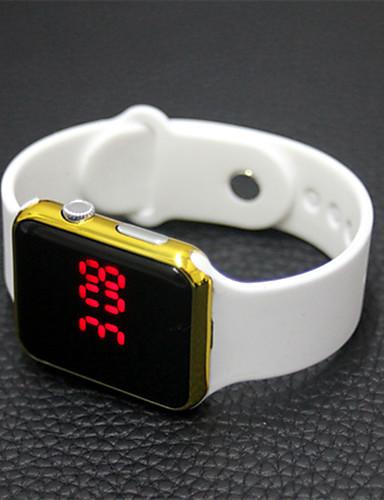 Męskie Damskie Cyfrowe Zegarek cyfrowy Sportowy Chiński LCD Guma Pasmo Na co dzień Elegancki Modny Święta Bożego Narodzenia Czarny Biały