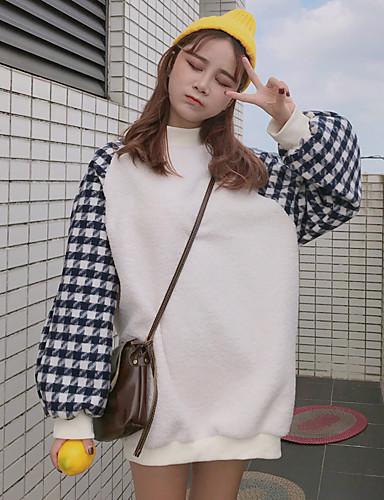 Damen Pullover Lässig/Alltäglich Einfarbig Polyester