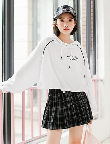 Damen Einfach Schule Mini Röcke Druck Herbst