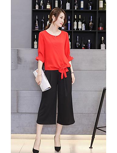 Damen Aktiv Bluse - Solide Hose