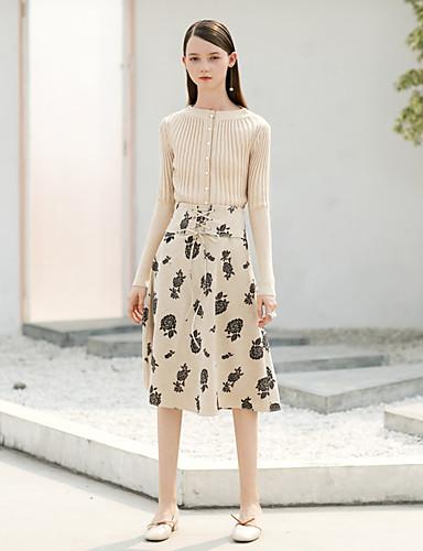 Damskie Vintage Sukně a šaty Spódnice - Praca Kwiaty, Vintage Style