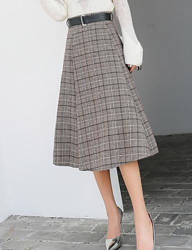 Damen Lässig/Alltäglich Midi Röcke Muster Frühling Winter