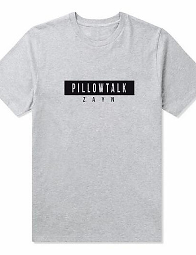 Damen Buchstabe Aktiv Lässig/Alltäglich T-shirt,Rundhalsausschnitt Kurzarm Baumwolle