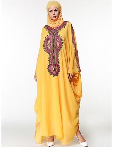 Damen Tunika Kleid Solide Maxi
