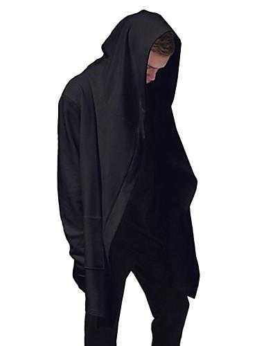 Herren Kapuzenshirt Lässig/Alltäglich Übergröße Street Schick Solide Hoodies Unelastisch Baumwolle Elasthan Langarm