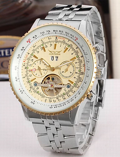 f84afdac92e cheap Steel Band Watches-Jaragar Men's Fashion Watch Skeleton Watch  Wrist
