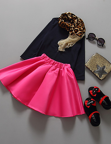 Mädchen Sets einfarbig Baumwolle Sommer Herbst Kleidungs Set