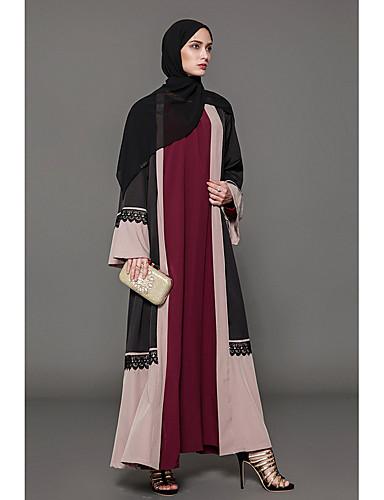 Damen Lose Kleid Solide / Einfarbig Maxi / Herbst