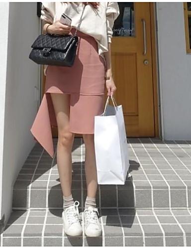 Damen Asymmetrisch Röcke