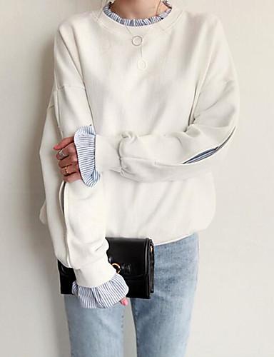 Damen Pullover Solide Baumwolle