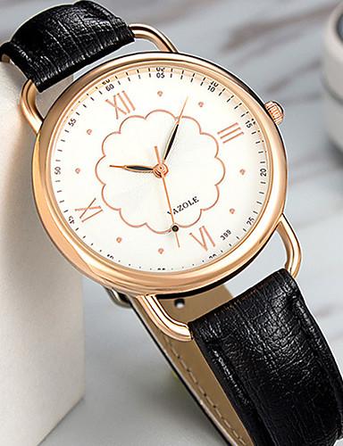 YAZOLE Damen Armbanduhr Chinesisch Schlussverkauf PU Band Blume / Retro / Freizeit Schwarz / Weiß / Ein Jahr / SSUO 377