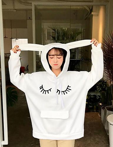 Damen Kapuzenshirt - Druck Baumwolle