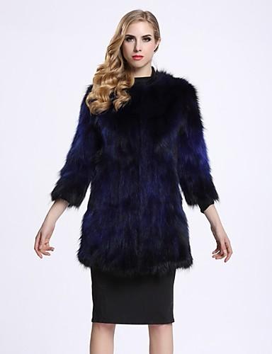 Damen Solide Einfach Freizeit Street Schick Ausgehen Pelzmantel Winter Standard Kunst-Pelz