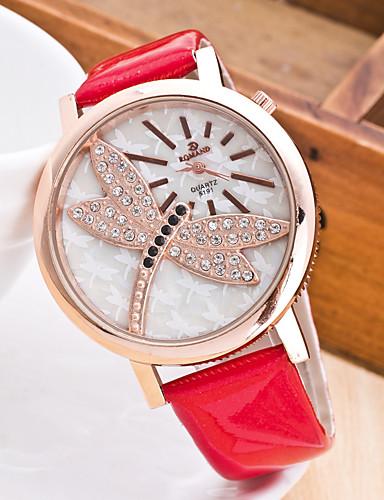 Damskie Kwarcowy Zegarek na nadgarstek Chiński Chronograf Guma Pasmo Na co dzień Elegancki Modny Święta Bożego Narodzenia Czarny Biały