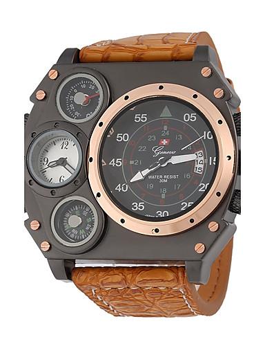 JUBAOLI Herrn Armbanduhr Chinesisch Schlussverkauf Leder Band Charme / Einzigartige kreative Uhr Schwarz / Khaki