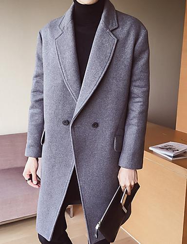 Herrn Solide Chinoiserie Trench Coat, Hemdkragen Baumwolle
