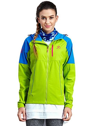 cheap Outdoor Clothing-Women's Hiking Fleece Jacket Outdoor Spring, Fall, Winter, Summer Windproof Warm Fast Dry Top Full Length Visible Zipper Camping / Hiking Casual Running Fuchsia / Sky Blue / Forest Green Hiking