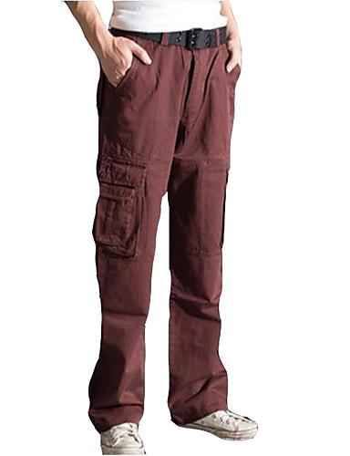 b8706c2a7194 Hombre Pantalones para senderismo Pantalones cargo Al aire libre Entrenador  Paseo Multi-bolsillo Primavera