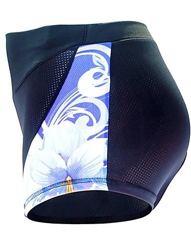 cheap Cycling Clothing-ILPALADINO Women's Cycling Under Shorts Cycling Shorts Bike Shorts Padded Shorts / Chamois Bottoms 3D Pad Quick Dry Anatomic Design Sports Floral / Botanical Spandex Elastane Lycra Black Road Bike