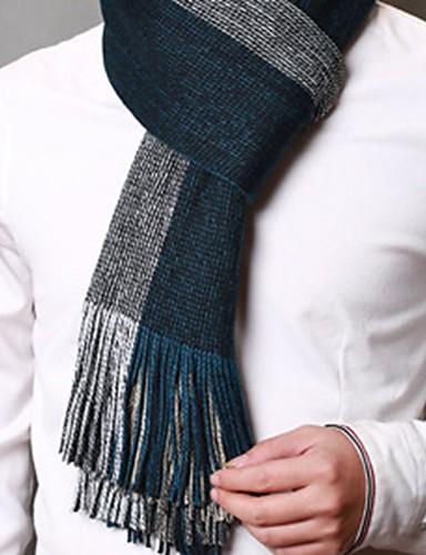 Недорогие Мужские шарфы-Муж. Классический и неустаревающий Прямоугольная - Классический Решетка