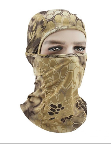 cheap Cycling Clothing-Balaclava Pollution Protection Mask Warm Bike / Cycling Mineral Green Camouflage Khaki Polyester for Men's Women's Adults' Camping / Hiking Ski / Snowboard Cycling / Bike Cross-Country Bike / Cycling