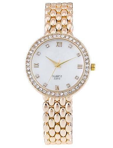 Damskie Kwarcowy Zegarek na nadgarstek Chiński sztuczna Diament Stop Pasmo Na co dzień Symulowany zegarek Diamond Do sukni / garnituru