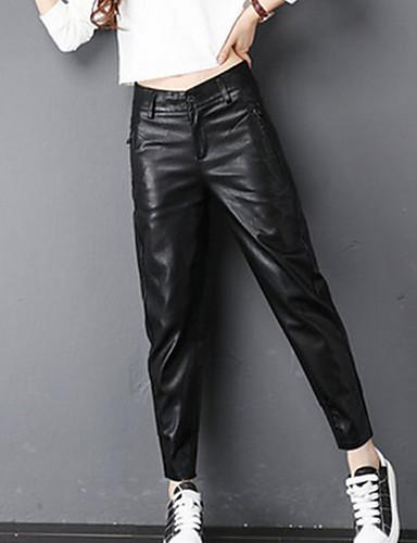 בגדי ריקוד נשים הארם מכנסיים - גיזרה גבוהה אחיד / סתיו