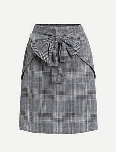 משובץ - חצאיות ליציאה עפרון פעיל בגדי ריקוד נשים