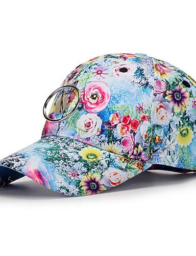 כובע בייסבול - פרחוני פוליאסטר יוניסקס