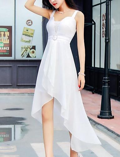 כתפיה גיזרה גבוהה א-סימטרי אחיד - שמלה סווינג בגדי ריקוד נשים