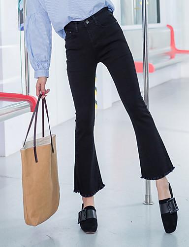 בגדי ריקוד נשים כותנה רגל רחבה מכנסיים אחיד