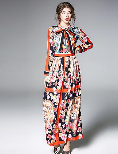 Per donna Per uscire Moda città   sofisticato Linea A   Fodero Vestito -  Con stampe 24e693b911d