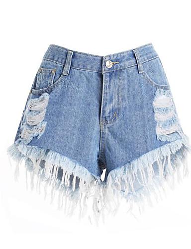 בגדי ריקוד נשים כותנה ג'ינסים מכנסיים אחיד / קיץ