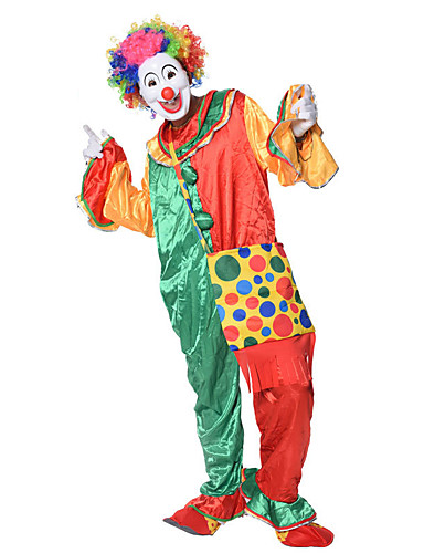 Burlesque Clown Circus Cosplay Costume Party Costume Men s Party   Evening  Men s Uniform Carnival Festival   Holiday Polyster Rainbow Carnival Costumes  ... cf4e2afdc8a1