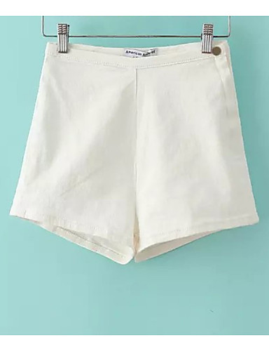 בגדי ריקוד נשים ג'ינסים מכנסיים - גיזרה גבוהה אחיד / קיץ