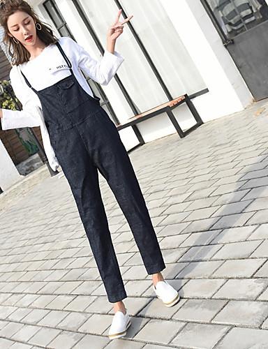 בגדי ריקוד נשים ספורט ושטח / סגנון רחוב בגד מכנסיים - גיזרה גבוהה אחיד / ליציאה